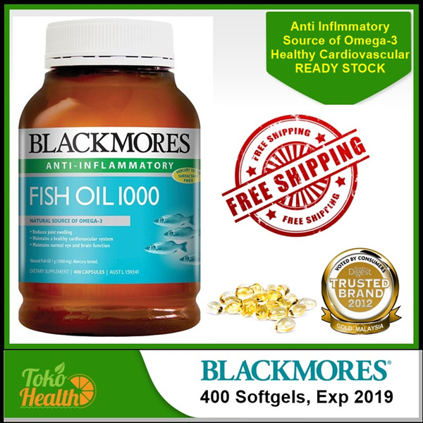 Buy *FREE SHIPPING SG* Blackmores Fish Oil 1000mg Omega 3 400 Capsules Deals for only S$75 instead of S$0