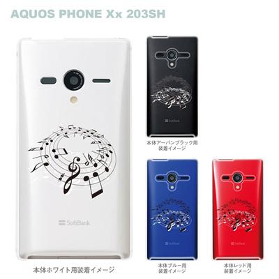 【AQUOS PHONEケース】【203SH】【Soft Bank】【カバー】【スマホケース】【クリアケース】【ミュージック】 09-203sh-mu0004の画像