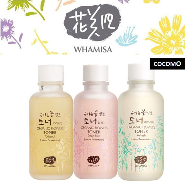 ?$75* INSTANT OFF?SOLD OUT FAST?ORGANIC FLOWERS SKIN TONER?5 STARS REVIEWS? WHAMISA?