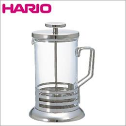 HARIO(ハリオ)ハリオール・ブライト 4杯用 THJ-4SV■紅茶器具の定番、ティープレスポット。コーヒーでもお使いいただける万能ティーポット。長年愛されるスタイリッシュデザイン