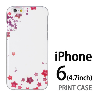 iPhone6 (4.7インチ) 用『0312 桜フレーム』特殊印刷ケース【 iphone6 iphone アイフォン アイフォン6 au docomo softbank Apple ケース プリント カバー スマホケース スマホカバー 】の画像