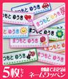 お名前ワッペン[長方形・同柄5枚セット・ピンク系]【OR】