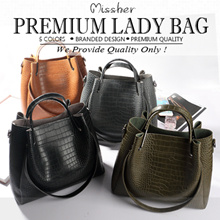 【FREE QXPRESS】【PREMIUM QUALITY】Alligator 3 Way Bag in Bag Lady Bag/Working Bag/Shoulder Bag