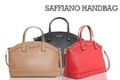 MG SAFFIANO EFFECT SHELL HAND BAG WITH SLING STRAP (Red Taupe Black)