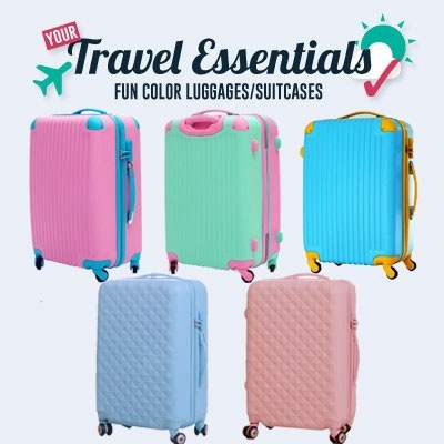 Qoo10 - A12(IN STOCK SG)baby PINK BLUE Diamond concept Suitcase ...