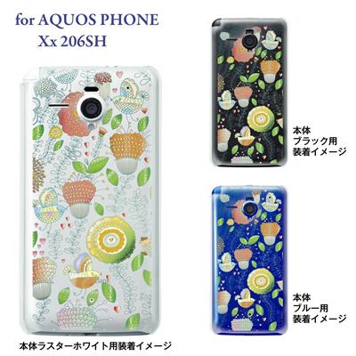 【AQUOS PHONE Xx 206SH】【206sh】【Soft Bank】【カバー】【ケース】【スマホケース】【クリアケース】【Vuodenaika】【フラワー】 21-206sh-ne0015caの画像