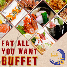 [MUST TRY!!!] ALL-YOU-CAN-EAT Japanese Buffet from Sankai.Valid Daily at Bugis.Free flow of sashimi!