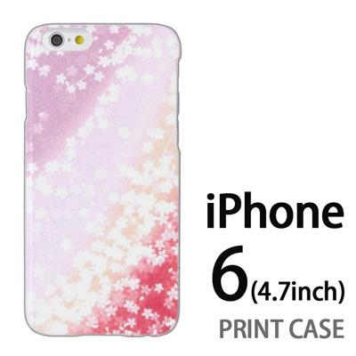 iPhone6 (4.7インチ) 用『0312 桜グラデーション 赤×紫』特殊印刷ケース【 iphone6 iphone アイフォン アイフォン6 au docomo softbank Apple ケース プリント カバー スマホケース スマホカバー 】の画像