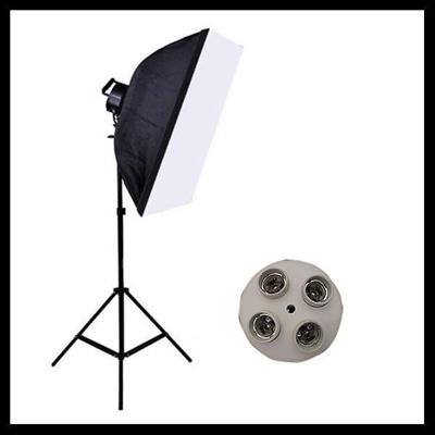 【レビュー記載で送料無料!】撮影器具70×50ソフトボックス4灯撮影スタンド 1灯 撮影照明 写真 予約商品の画像