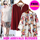 ★2015 New Arrival add!★[Plus Size] Trendy Top Chiffon Blouses collection / Work Shirts Office style/ Plus Size Travel Item K-star Korea fashion/High Quality Blouses shirt /Tops/Suit/