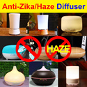 ★Anti-ZIKA / HAZE ★ 80% OFF ★100ml/150ml/200ml/300ml/500ml★ Ultrasonic Aroma Diffuser | Humidifier | Air Purifier ★Multi-Color LED Light/ Auto Off/Relaxation/Super Quiet ★Warranty★Best Price★