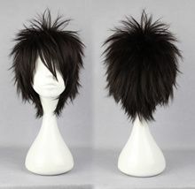 32cm Cos wig Naruto / Natsume friends do not cut off / North Benedictine history section black short