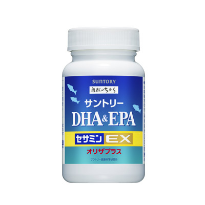 Suntory DHA EPA + Sesamin EX 120 / 240 tablets 三得利 魚油 DHA&EPA+芝麻明E