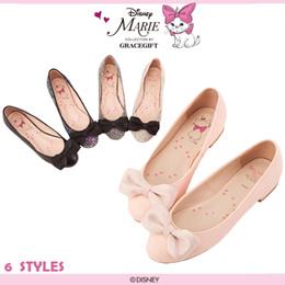 ♥New Arrival♥Gracegift-Disney Marie Bow Ballet Flats/Women Shoes