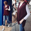 [Mayblue] ★ Free Shipping ★ ♥ Korea EC site a big hit! Commodity ♥♥ Limited Item ♥♥ surge of popularity ♥♥ finest quality security ★ V-neck knit long vest