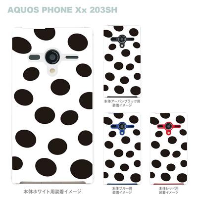 【AQUOS PHONEケース】【203SH】【Soft Bank】【カバー】【スマホケース】【クリアケース】【チェック・ボーダー・ドット】【モゥ~てん】 22-203sh-ca0021の画像