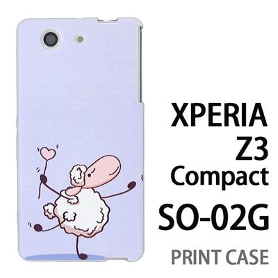 XPERIA Z3 Compact SO-02G 用『0310 ダンシング羊 青』特殊印刷ケース【 xperia z3 compact so-02g so02g SO02G xperiaz3 エクスペリア エクスペリアz3 コンパクト docomo ケース プリント カバー スマホケース スマホカバー】の画像