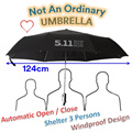 Super Large Umbrella enough to sheltered 3 persons / 511 Tactical Umbrella / Automatic Open and Close / Must have for all car for the ease of opening and closing during rainy days