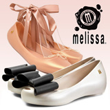 (Melissa) Womens shoes Melissa mel by Jelly shoes rubber shoes women shoes Queen Ultragirl sweet Ballet Shoes