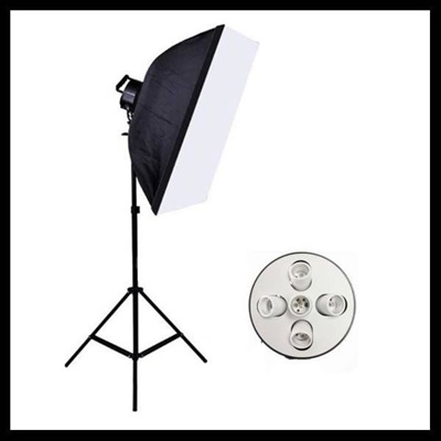【レビュー記載で送料無料!】撮影器具90×60ソフトボックス5灯式1灯 撮影照明 写真の画像