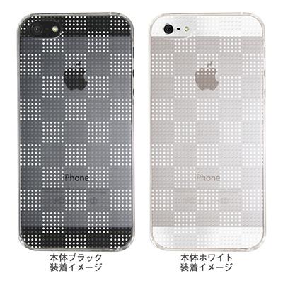 【iPhone5S】【iPhone5】【Clear Arts】【iPhone5ケース】【カバー】【スマホケース】【クリアケース】【チェック・ボーダー・ドット】【ドットボックス】【ホワイト】 ip5-06ca051a-w 【10P01Sep13】の画像