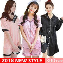 2019 Women pajamas/Korean style cartoon pajamas/ short Sleeve Pyjamas/ sexy sleepwear/Women Lingerie