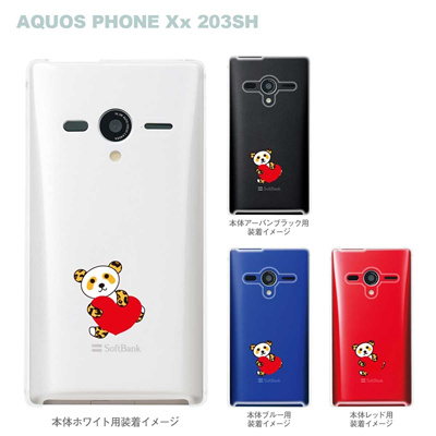 【AQUOS PHONEケース】【203SH】【Soft Bank】【カバー】【スマホケース】【クリアケース】【アニマル】【パンダ】 22-203sh-ca0025の画像