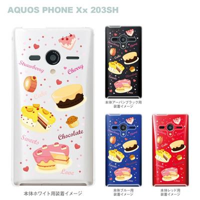 【AQUOS PHONEケース】【203SH】【Soft Bank】【カバー】【スマホケース】【クリアケース】【スイーツ】 09-203sh-sw0004の画像