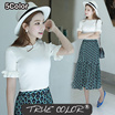 [TRUE COLOR] FALBALA KNITTED TOP/ECT12-1