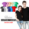 ★COTTON T-SHIRT★ Unisex / Short Sleeves / Round Neck / T-shirt / Top / Tee / Shirts / Cotton