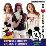 Made in KOREA[★Authentic Disney T-Shirt★]Plus size Unisex loose fit T-shirt /High quality cotton loose fit T-shirt / casual T-shirt / Mickey/  Short sleeve T-shirts / disney /Basic Design /plus size /