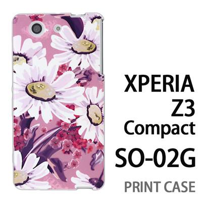 XPERIA Z3 Compact SO-02G 用『0310 蒲公英 ピンク』特殊印刷ケース【 xperia z3 compact so-02g so02g SO02G xperiaz3 エクスペリア エクスペリアz3 コンパクト docomo ケース プリント カバー スマホケース スマホカバー】の画像