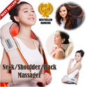[MOTHERS DAY SPECIAL][PSB SAFETY PLUG]uPAPA Hug Similar Neck Back and Shoulder Massager* Comfortable and Amazing * Unique Powerful Drum Rhythmic Massage * Massage Pillow Cushion * Sooth Aches
