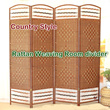 【New! Rattan-Weaving Room Divider】Natural Fiber Folding Screen/Partition/2 Types 4 Patterns Available!