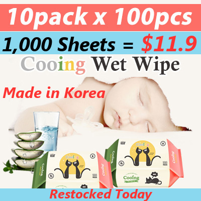 [SUPER DEAL]? Cooing Cooing Korea Wet Wipe10 Packs Deals for only S$80 instead of S$0