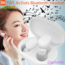 In stock Xiaomi TWS AirDots Bluetooth Earphone Youth Version stereo Bass BT 5.0 Headphones With Mic