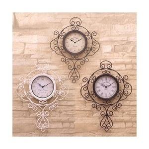 洒落で可愛らしい壁掛け時計 ノーブルアイアンのウォールクロック プリンセス 3色 / ブラウン ブラック ホワイト★の画像