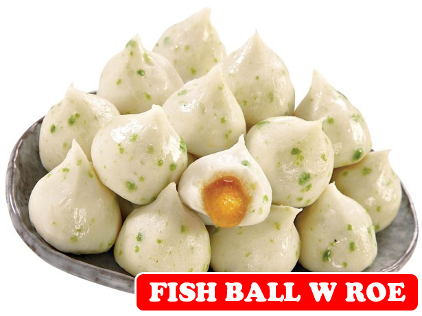 Qoo10 fish ball with roe 200g frozen groceries for Fish ball with roe