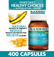 [MEGA SALE !! ] BLACKMORES FISH OIL 1000MG 400 TABLETS. EXP Dec 2018