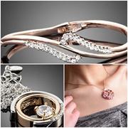 Designer Quality Cubic Zirconia Austrian Rhinestones Necklace Bracelet Earrings Present Gift