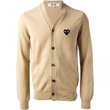 PLAY COMME des GARCONS Black Heart Mens Cardigan (Beige)