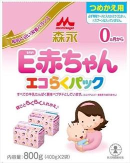 森永乳業 E赤ちゃん エコらくパック 詰め替え用400g×2