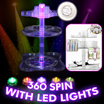♥BUY NOW OR REGRET!!♥HIGH QUALITY♥AFFORDABLE♥MADE IN KOREA♥SPIN 360♥LED LIGHTS UP IN 5 COLOURS♥COSMETIC ORGANIZER♥SLID COMPARTMENT IN TRANSPARENT AND WHITE♥