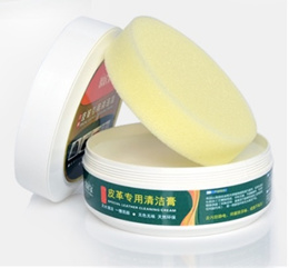 Leather Cleaning Cream + Sponge - Cleaner n Conditioner 260g. Cleaning Solution For Bags Shoes Sofa.