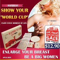 [GSS SALE] RAPIBUST Breast Enhancement Mask 4 Boxes(16pcs) ♥ For Your Beautiful Bust Enlargement Lifting Firming ♥ It Works On Everyone ♥ Build Your Confidence in Just 7 Days