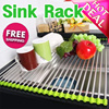 [REAL Stainless]6/12/18/24ROLL Sink Roll Stainless steel High quality silicone big size fruit