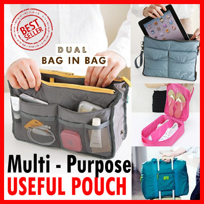 Bag in Bag?*Luggage Organizer?Travel Bag* Pouch* SHOE Deals for only S$19.9 instead of S$0