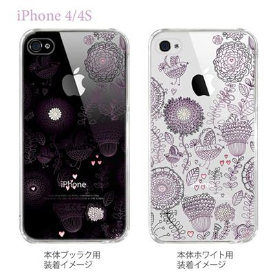 【Vuodenaika】【iPhone4/4Sケース】【カバー】【スマホケース】【クリアケース】【フラワー】 21-ip4-ne0014caの画像
