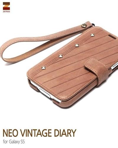 ≪docomo≫ GALAXY S5 SC-04F/≪au≫ GALAXY S5 SCL23スマホケース スマホカバーギャラクシー GALAXY S5 Diary /Zenus Prestige Neo Vintage Diary (プレステージネオビンテージダイアリー)の画像