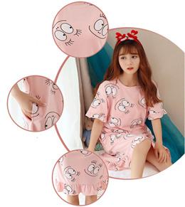 UNLIMON Womens Cotton Nightgowns Night Dress For Women Girls Nightgowns Cute Nightgowns Short Sleeve
